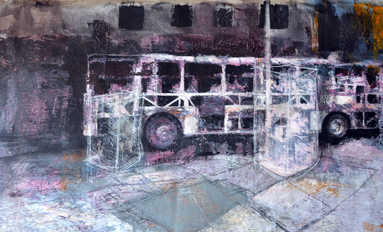 Burned bus 1