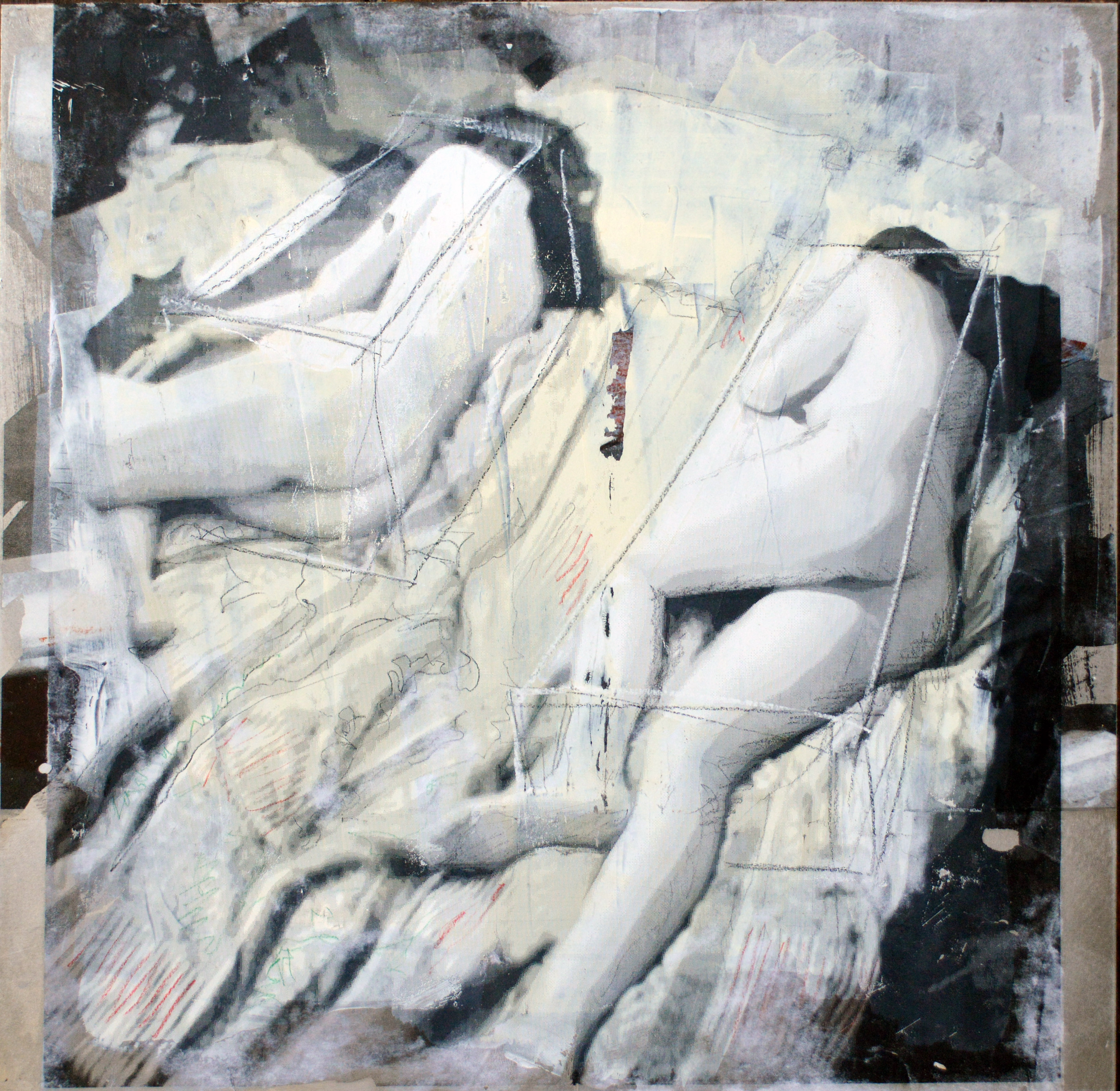 sleeping women 50x50cm
